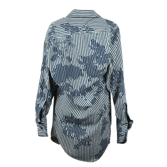 Vivienne Westwood Anglomania Womens Blue Rose Stripe Print Chaos Shirt main image