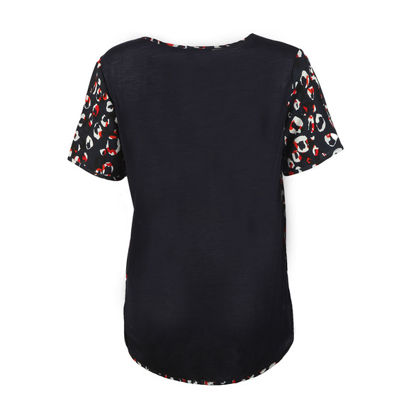 French Connection Womens Blue Chira Crepe Crew Top main image