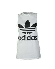 Adidas Originals Womens White Trefoil Tank