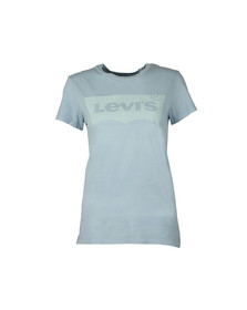 Levi's Womens Blue Perfect Logo Shirt