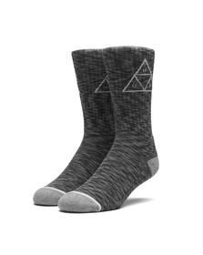 HUF Mens Black Melange Triple Triangle Socks