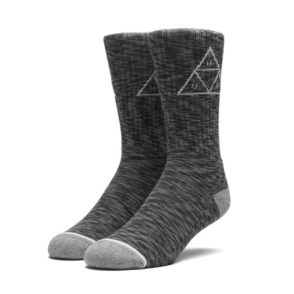 HUF Mens Black Melange Triple Triangle Socks main image