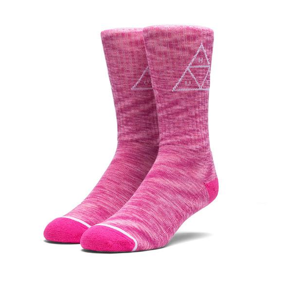 HUF Mens Pink Melange Triple Triangle Socks main image