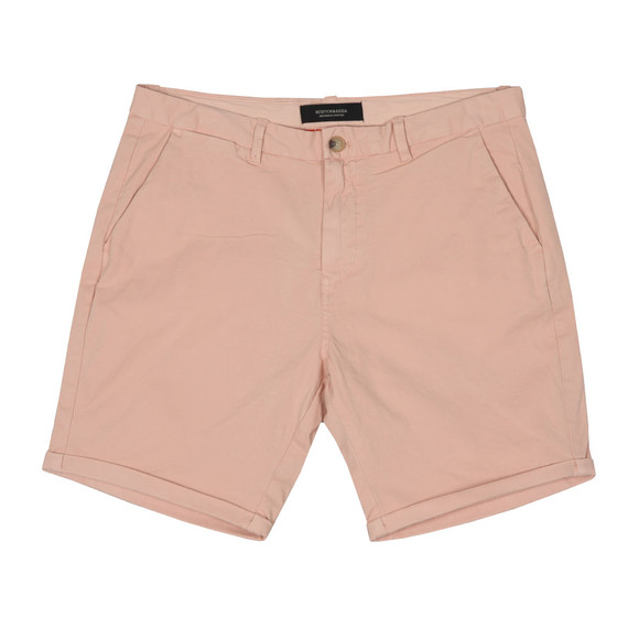 Scotch & Soda Mens Pink Classic Chino Short main image