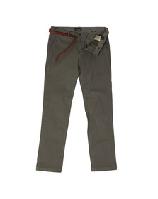 Scotch & Soda Mens Grey Slim Fit Cotton Chino