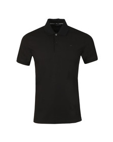 J.Lindeberg Mens Black Troy Clean Pique Polo Shirt