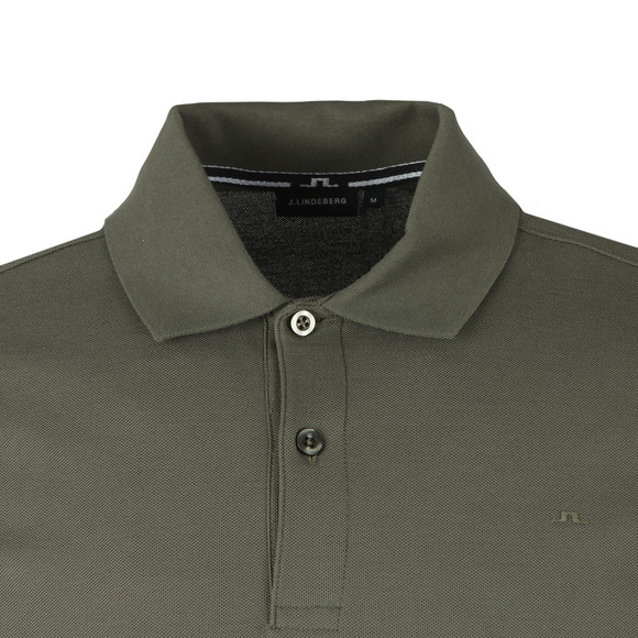 J.Lindeberg Mens Green Troy Clean Pique Polo Shirt main image