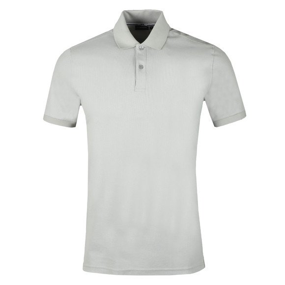 J.Lindeberg Mens Grey Troy Clean Pique Polo Shirt main image