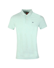 Scotch & Soda Mens Green Classic Clean Pique Polo Shirt