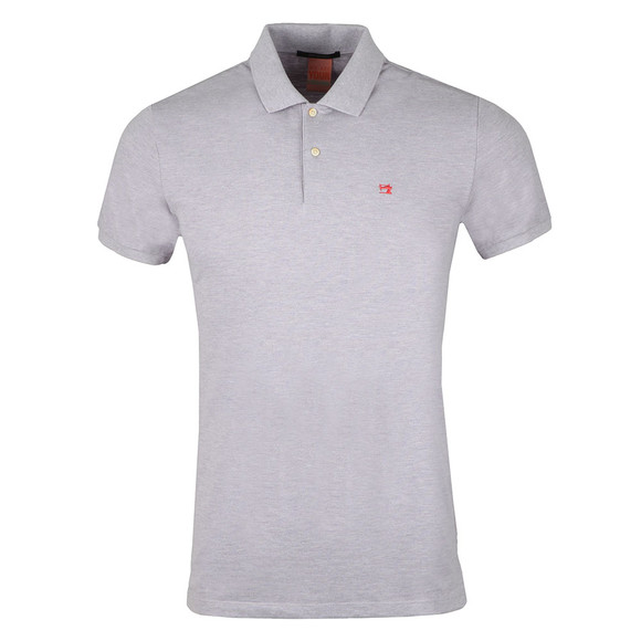 Scotch & Soda Mens Purple Classic Clean Pique Polo Shirt main image