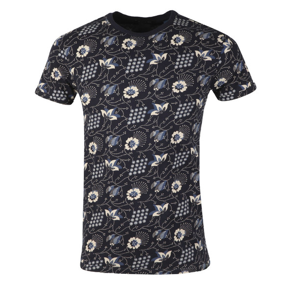 Scotch & Soda Mens Blue Classic Crew Neck Tee main image
