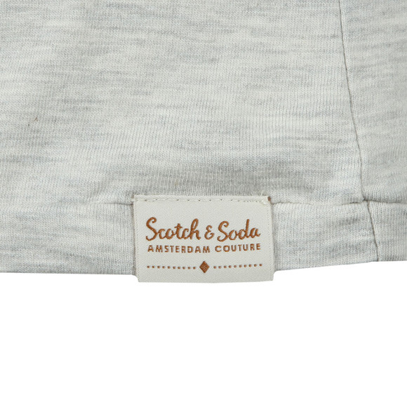 Scotch & Soda Mens Off-White Classic Crew Neck Tee main image