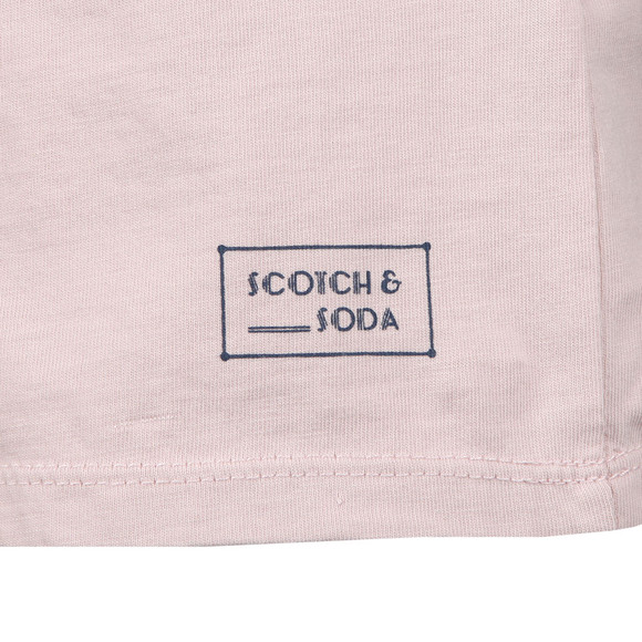 Scotch & Soda Mens Pink Classic Crew Neck T Shirt main image