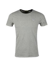 Scotch & Soda Mens Off-White Palm Tree Print T Shirt
