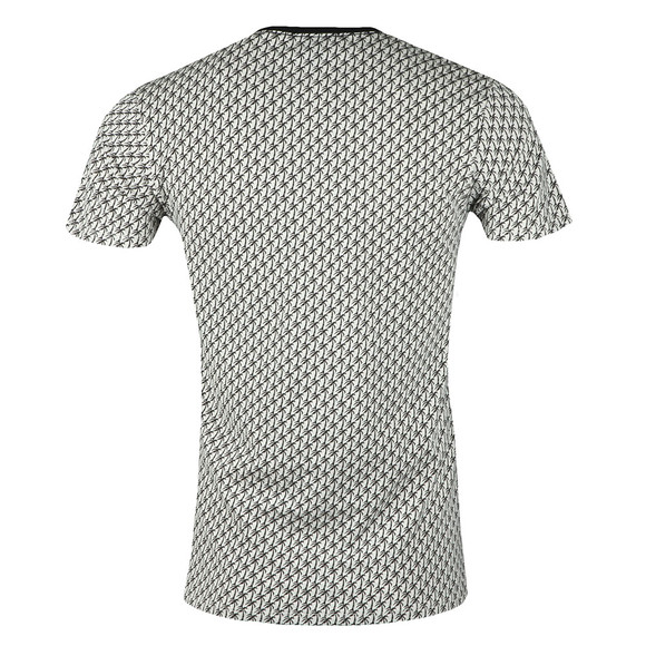 Scotch & Soda Mens Off-white Palm Tree Print T Shirt main image