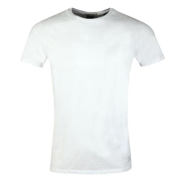 Scotch & Soda Mens White Classic Crew Neck T Shirt main image
