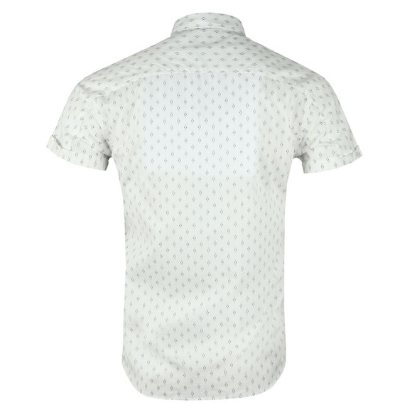 Scotch & Soda Mens White Classic Shortsleeve Poplin Shirt main image