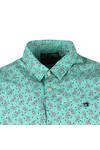Scotch & Soda Mens Green Classic Shortsleeve Poplin Shirt