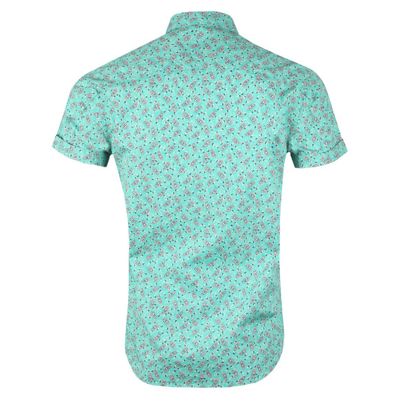 Scotch & Soda Mens Green Classic Shortsleeve Poplin Shirt main image