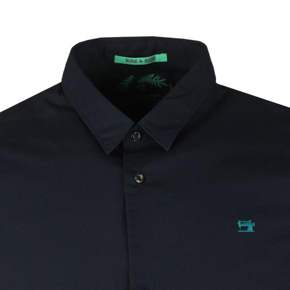 Scotch & Soda Mens Blue Classic Shortsleeve Poplin Shirt main image