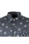 Scotch & Soda Mens Blue Short  Sleeve Patterned Shirt
