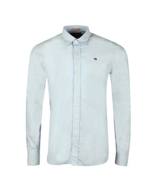 Scotch & Soda Mens Blue Relaxed Fit Poplin Shirt