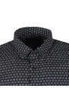 Scotch & Soda Mens Black Long Sleeve All Over Print Shirt