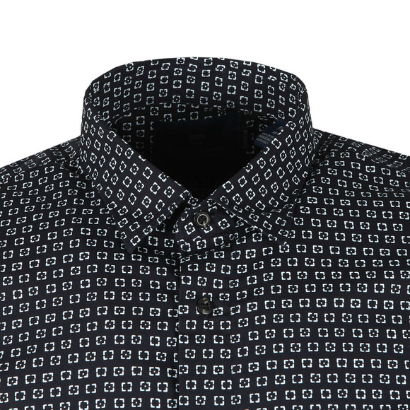 Scotch & Soda Mens Black Long Sleeve All Over Print Shirt main image