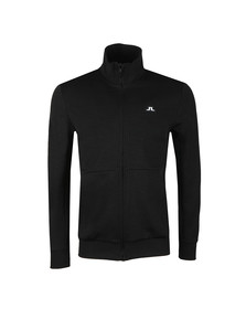 J.Lindeberg Mens Black Elliot Lux Zip Sweat