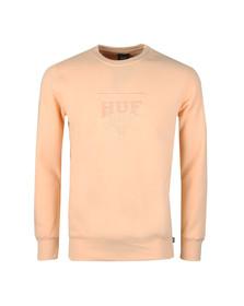 HUF Mens Pink Sport Fleece Sweatshirt