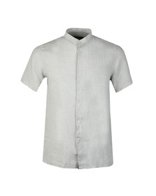 J.Lindeberg Mens Off-white Daniel Linen Melange Short Sleeve Shirt