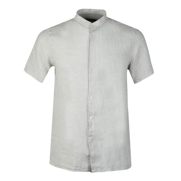 J.Lindeberg Mens Off-White Daniel Linen Melange Short Sleeve Shirt main image