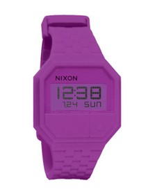 Nixon Mens Purple Nixon Rubber Re-Run Purple Watch
