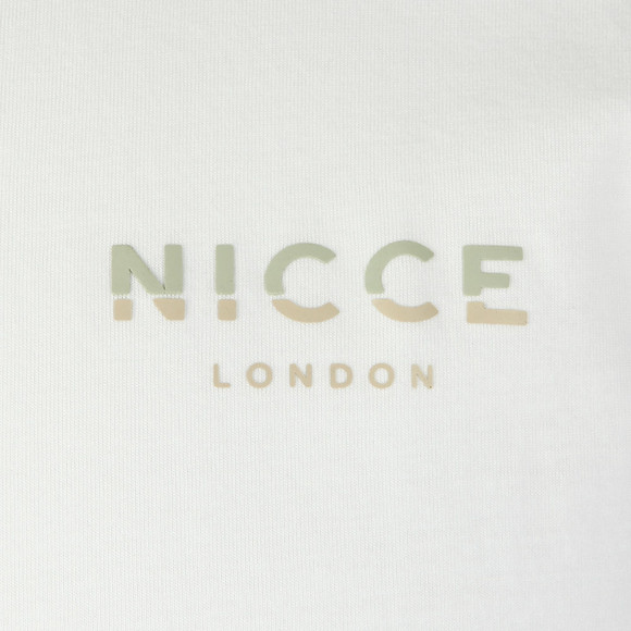 Nicce Mens White S/S Rubberised Logo Tee main image