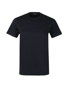 Nicce Mens Blue S/S Embossed Logo Tee