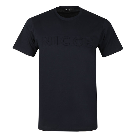 Nicce Mens Blue S/S Embossed Logo Tee main image
