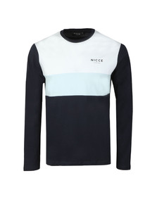 Nicce Mens Blue L/S Treble Tee