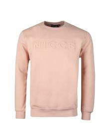 Nicce Mens Pink Embossed Logo Sweat