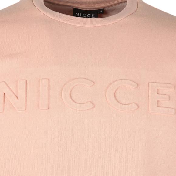 Nicce Mens Pink Embossed Logo Sweat main image