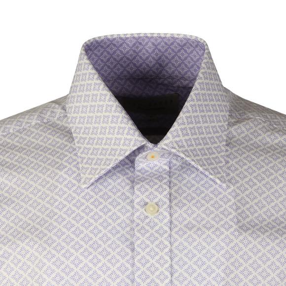 Ted Baker Mens Purple Snaper Leaf Diamond Endurance Shirt main image