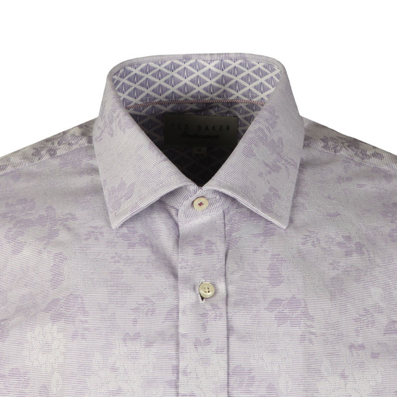 Ted Baker Mens Purple Pampa Shadow Flower Endurance Shirt main image