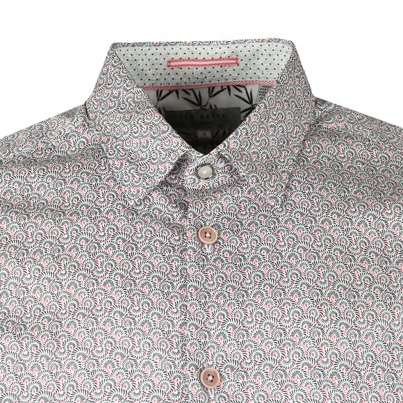 Ted Baker Mens Pink  Lorrie L/S Rounded Geo Print main image