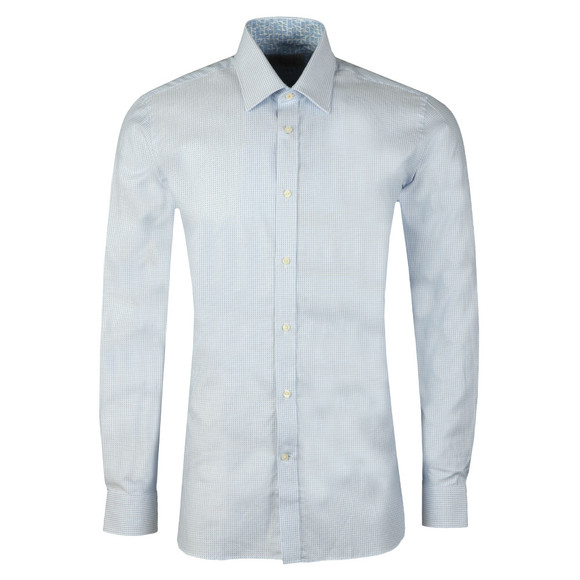 Ted Baker Mens Blue Hooch Box Texture Endurance Shirt main image