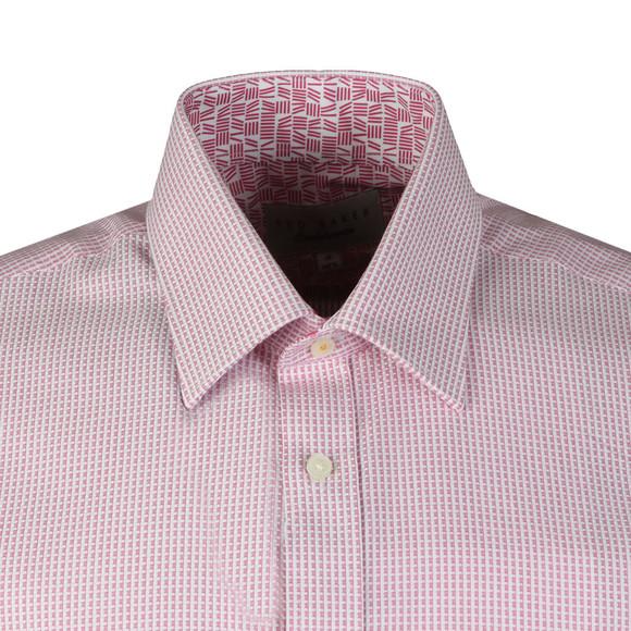Ted Baker Mens Pink Hooch Box Texture Endurance Shirt main image