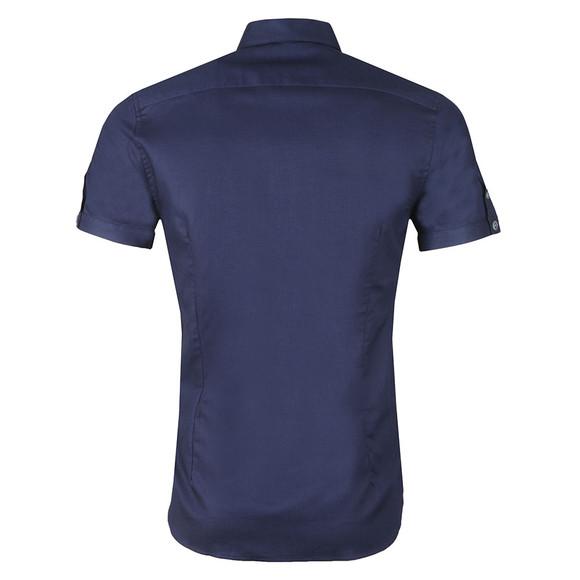 Ted Baker Mens Blue SS Waffle Weave Bowling Shirt main image