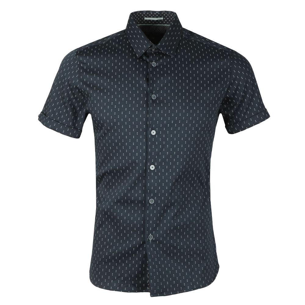 Franko S/S Print Textured Shirt main image