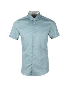 Ted Baker Mens Blue Narnar S/S Geo Print Shirt