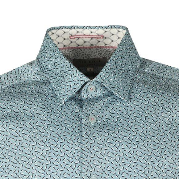 Ted Baker Mens Blue Narnar S/S Geo Print Shirt main image