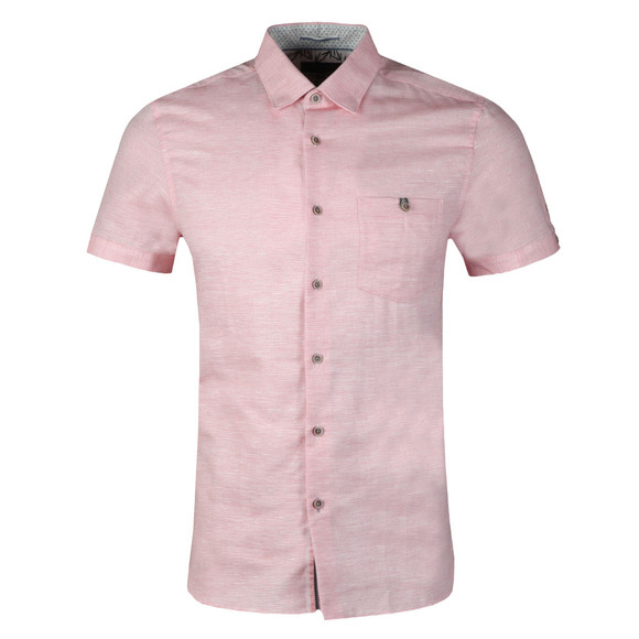 Ted Baker Mens Red Peeze S/S Two Tone Shirt main image
