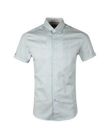 Ted Baker Mens White Narnar S/S Geo Print Shirt